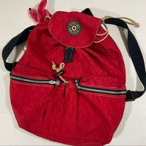 Kipling drawstring backpack with keychain